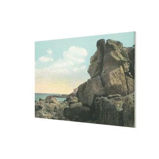 Opinión el viejo hombre de la formación de roca de lona envuelta para galerias