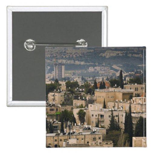Opinión elevada de la ciudad de la torre de Jerusa Pins