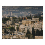 Opinión elevada de la ciudad de la torre de Jerusa Poster