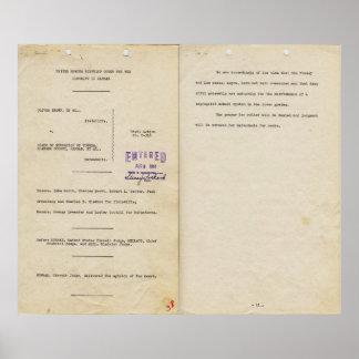 Opinión en la Dirección de Educación 1951pg 1 y 2 Póster