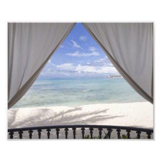 Opinión enmarcada de la playa arte fotográfico