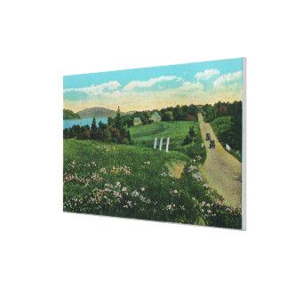 Opinión escénica del país, sobre las colinas y lej lona estirada galerías