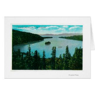 Opinión esmeralda de la bahía sobre el lago TahoeL Tarjeta De Felicitación