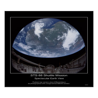 Opinión espectacular de la tierra - STS-88 Sh… Póster