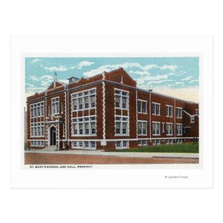 Opinión exterior la escuela y Pasillo de St Mary Postal