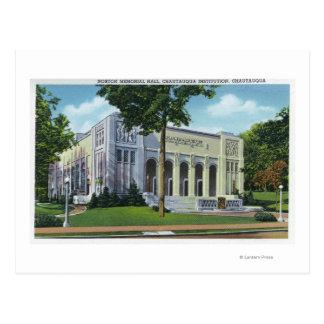 Opinión exterior Norton Memorial Hall Tarjeta Postal