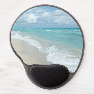 Opinión extrema de la playa de la relajación alfombrilla de ratón con gel