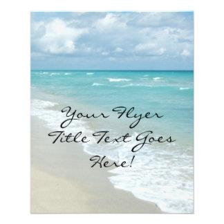 Opinión extrema de la playa de la relajación tarjetas informativas