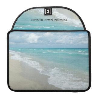 Opinión extrema de la playa de la relajación funda para macbook pro