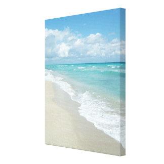 Opinión extrema de la playa de la relajación lienzo envuelto para galerías