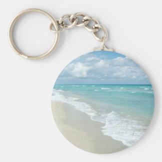 Opinión extrema de la playa de la relajación llaveros personalizados