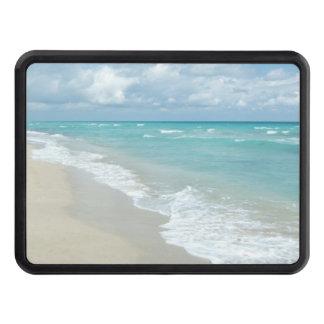 Opinión extrema de la playa de la relajación tapas de remolque