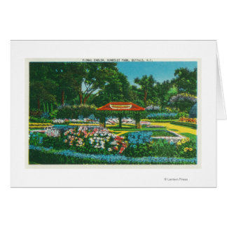 Opinión floral del emblema del parque de Humboldt Felicitación