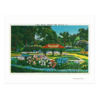 Opinión floral del emblema del parque de Humboldt Tarjetas Postales