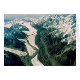 Opinión Gama-Aérea de la montaña de Alaska Tarjeta Pequeña