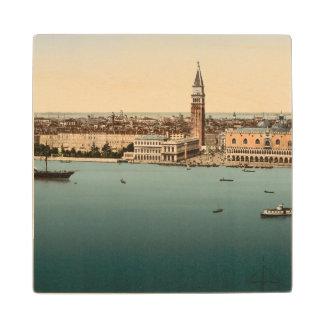 Opinión general de Venecia, Venecia, Italia Posavasos De Madera