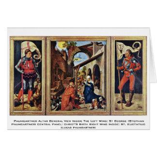 Opinión general del altar de Paumgartner dentro Tarjeta De Felicitación