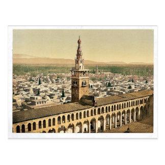 Opinión general y alminar de la novia, Damasco, H Postales