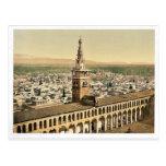 Opinión general y alminar de la novia, Damasco, H Tarjeta Postal