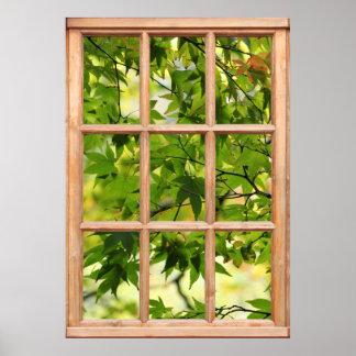 Opinión hermosa de la mañana de hojas de una venta impresiones