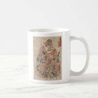 opinión humana de la parte posterior de la taza de café