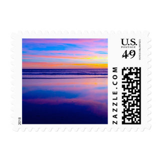 Opinión ideal azul de la puesta del sol de SoCal Timbre Postal
