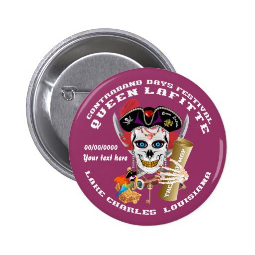 Opinión importante de la reina Lafitte del pirata Pin Redondo 5 Cm