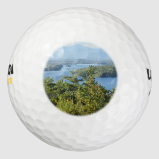 Opinión impresionante del winnipesaukee del lago pack de pelotas de golf