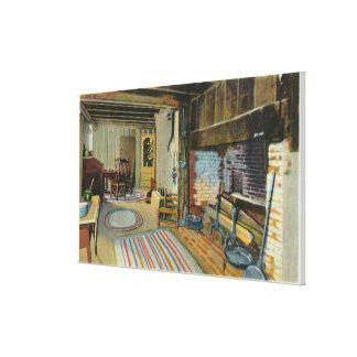 Opinión interior de la cocina de la casa de Juan A Impresión En Lona