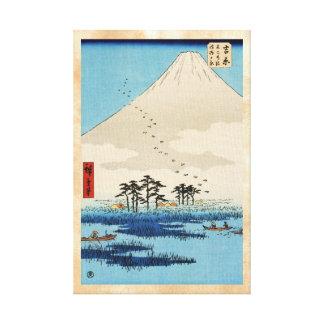 Opinión japonesa fresca de Fuji de la montaña del  Lona Envuelta Para Galerias