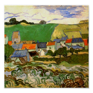 Opinión la bella arte de Auvers (F799) Van Gogh Póster