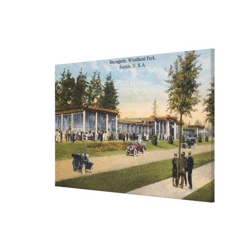 Opinión la casa de fieras del parque del arbolado impresión de lienzo