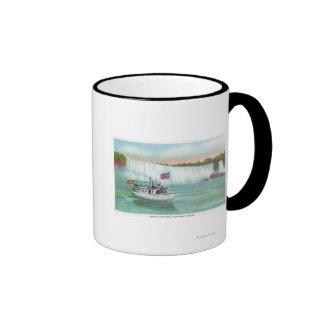Opinión la criada del barco de la niebla taza a dos colores