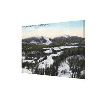 Opinión la ensillada del soporte en el invierno impresión en lona