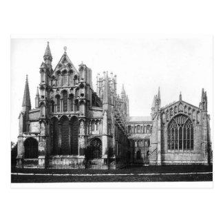 Opinión la fachada del este y el coro, c.1321-40 postal