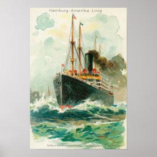 Opinión la Patricia en el mar, Hamburgo-América Posters
