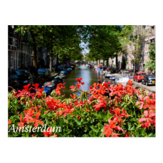Opinión magnífica del canal de la postal de Amster