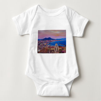 Opinión maravillosa de la ciudad de Nápoles con el Body Para Bebé