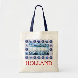 Opinión marítima mural de la teja de Holanda Delft Bolsa