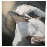 opinión marrón y blanca de la cabeza del pájaro servilletas imprimidas