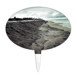 opinión melancólica oscura de la playa decoraciones para tartas