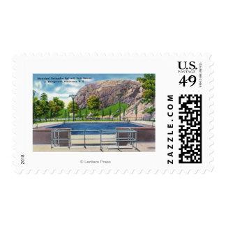 Opinión municipal de la piscina de la roca Rimmon Timbres Postales
