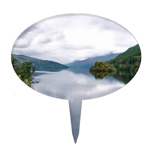 Opinión natural del lago water figuras de tarta