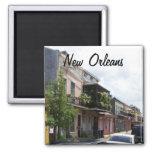 Opinión New Orleans Luisiana de la calle del barri Imán Cuadrado