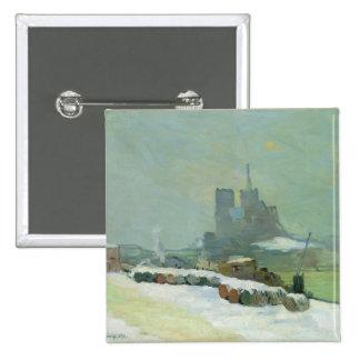 Opinión Notre Dame, 1894 (aceite en lona) Pin Cuadrada 5 Cm