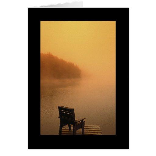 Opinión pacífica del lago felicitaciones