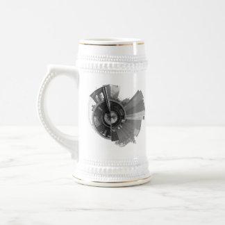 Opinión panorámica de 360 grados de Brooklyn NYC Tazas De Café