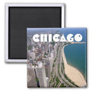 Opinión panorámica de Chicago Imán Para Frigorífico