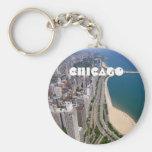 Opinión panorámica de Chicago Llaveros Personalizados