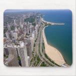 Opinión panorámica de Chicago Tapete De Ratones